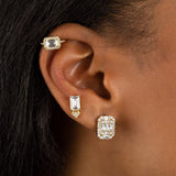 CZ Illusion Baguette Stud Earring - Adina's Jewels