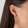 Two Tone Miami Curb Large Links Earring - Adina's Jewels