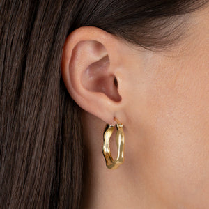 Bamboo Hoop Earring - Adina's Jewels