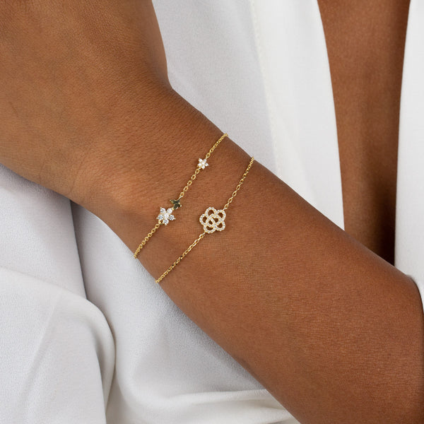 CZ Rose Flower Bracelet - Adina's Jewels