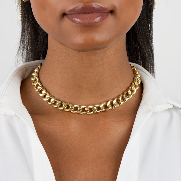 Large Miami Curb Link Necklace - Adina's Jewels