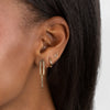 Solid Cartilage Huggie Earring 14K - Adina's Jewels
