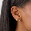 Solid Wide Huggie Earring 14K - Adina's Jewels