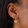 CZ Butterfly Huggie Earring - Adina's Jewels