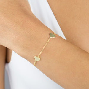 Triple Heart Bracelet - Adina's Jewels