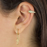 Pavé Snake Ear Cuff - Adina's Jewels