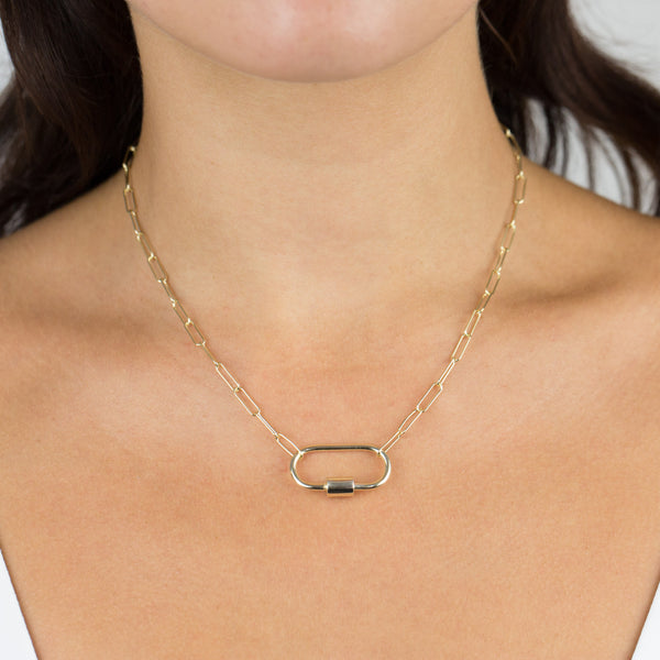 Large Toggle Oval Link Necklace - Adina's Jewels