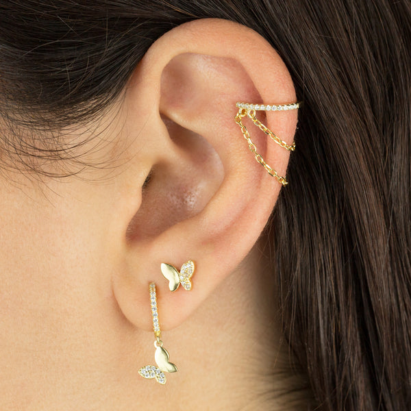 Pavé Chain Ear Cuff - Adina's Jewels