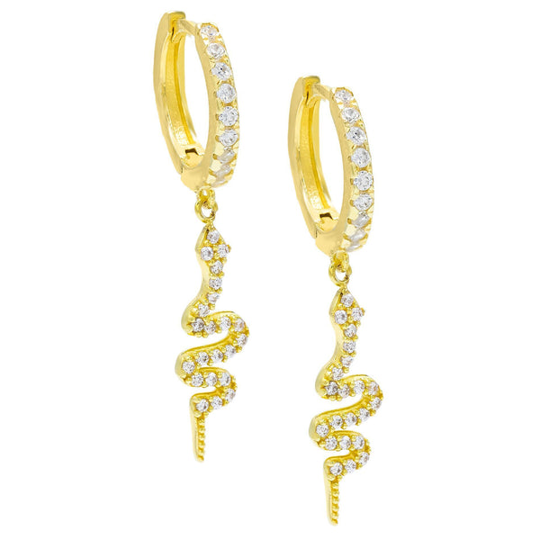 Gold Snake Huggie Earring - Adina's Jewels