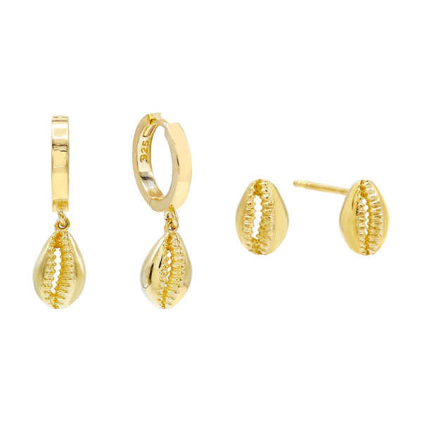 Shell Earring Combo Set