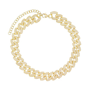 Chain Link Anklet Gold - Adina's Jewels
