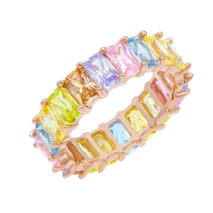 Pastel Rainbow Ring Multi-Color / 5 - Adina's Jewels