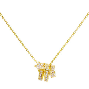 Shooting Star Necklace Gold - Adina's Jewels