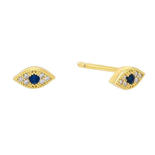 Mini Evil Eye Stud Earring