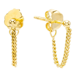 Chain Stud Earring 14K 14K Gold / PAIR - Adina's Jewels