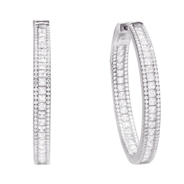 Princess Cut Hoop Earring - Adina's Jewels
