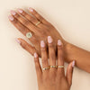Pavé X Solid Twisted Ring - Adina's Jewels