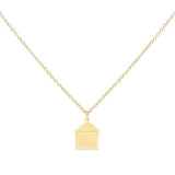 Gold Engraved House Necklace - Adina's Jewels