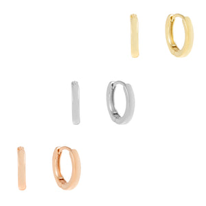 Solid Trio Huggie Earring Combo Set Combo - Adina's Jewels