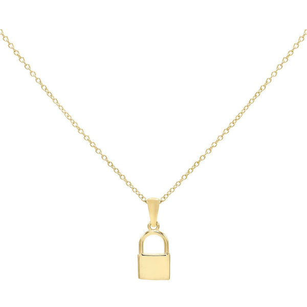 Gold Mini Lock Necklace - Adina's Jewels