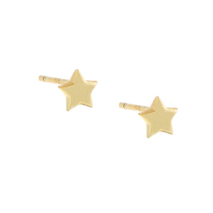 Tiny Solid Star Stud Earring Gold / Pair - Adina's Jewels