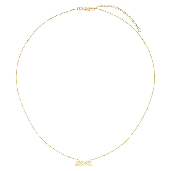 Love Script Necklace 14K - Adina's Jewels