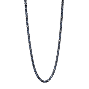 Stainless Steel Chain Necklace Sapphire Blue - Adina's Jewels