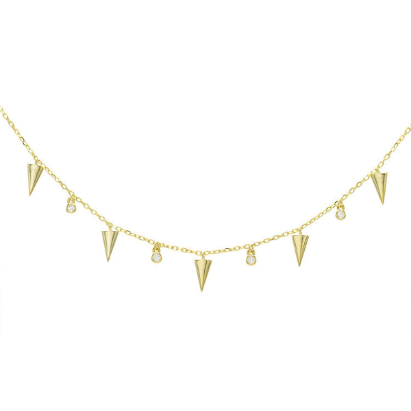 Gold Dagger Choker - Adina's Jewels