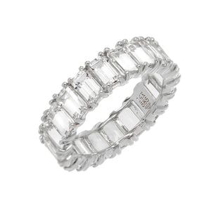 White Topaz Eternity Band 14K  - Adina's Jewels