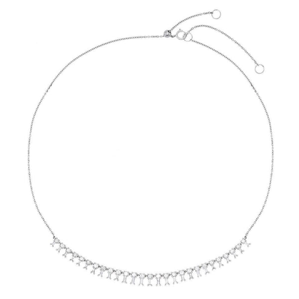 Dangling Baguettes Choker/Necklace 14K - Adina's Jewels