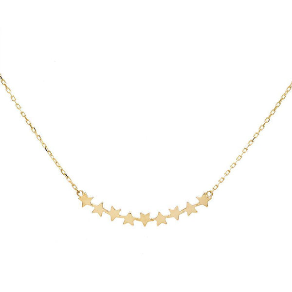 Star Bar Necklace 14K