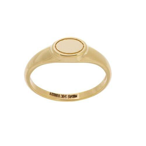 Mini Oval Ring 14K