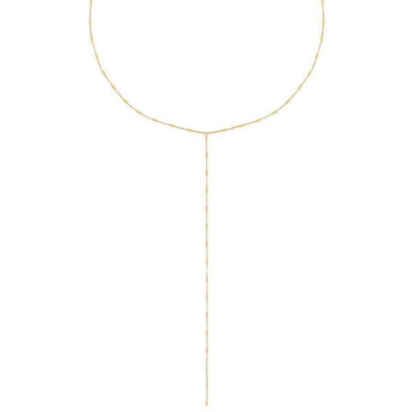 Gold Dainty Bar Lariat - Adina's Jewels