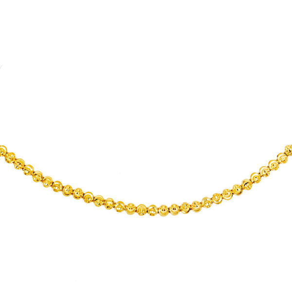 14K Gold Moon-Cut Beads Choker 14K - Adina's Jewels