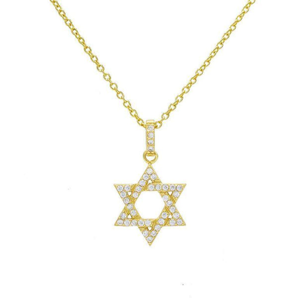 Gold Star of David Necklace - Adina's Jewels