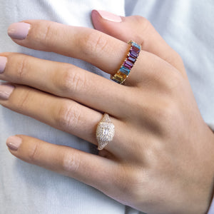 Diamond Baguette Ring 14K - Adina's Jewels