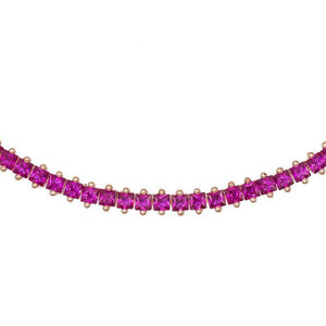 Magenta Colored Baguette Choker - Adina's Jewels