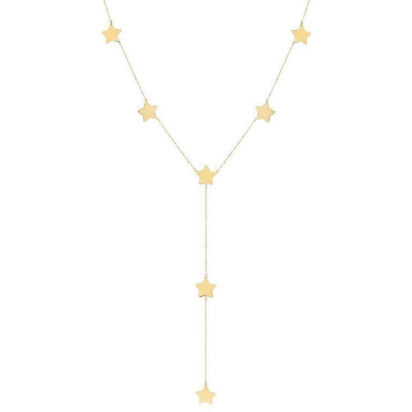 14K Gold Star Lariat 14K - Adina's Jewels