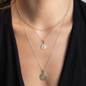 Coin Set Necklace - Adina's Jewels