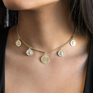 Five Coin Choker - Adina's Jewels