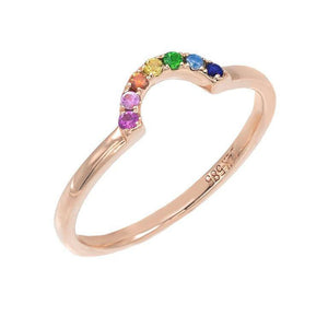 Mini Rainbow Ring 14K - Adina's Jewels