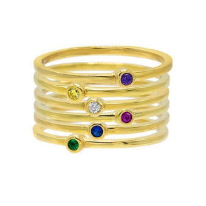 Stackable Bezel Ring Set - Adina's Jewels