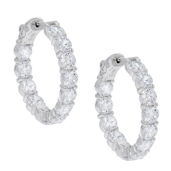 Silver Eternity Hoop Earring - Adina's Jewels