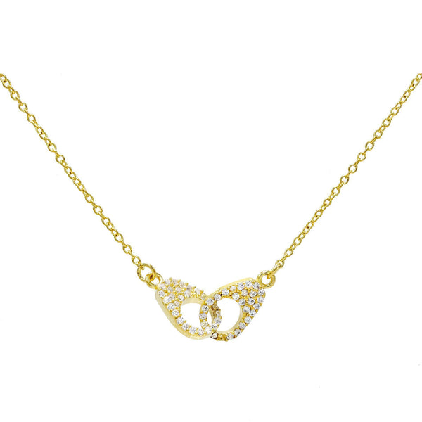Gold Pavé Handcuff Necklace - Adina's Jewels