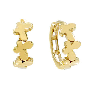 Butterfly Huggie Earring 14K 14K Gold - Adina's Jewels