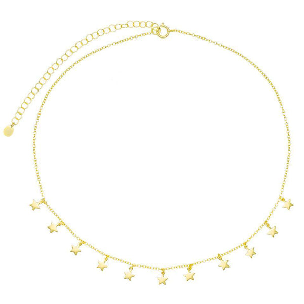 Gold Mini Hanging Stars Choker - Adina's Jewels