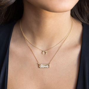 Love Bar Necklace - Adina's Jewels