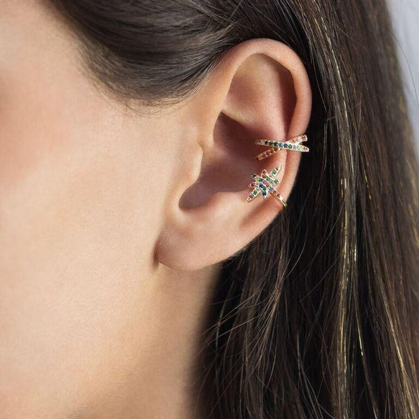 Long Starburst Ear Cuff - Adina's Jewels