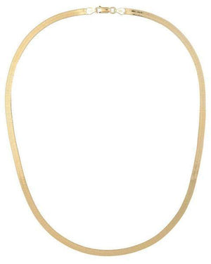Herringbone Necklace 14K 14K Gold - Adina's Jewels