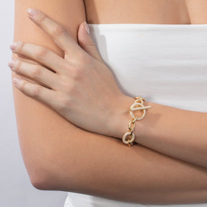 Pavé Multi Toggle Chain Bracelet - Adina's Jewels